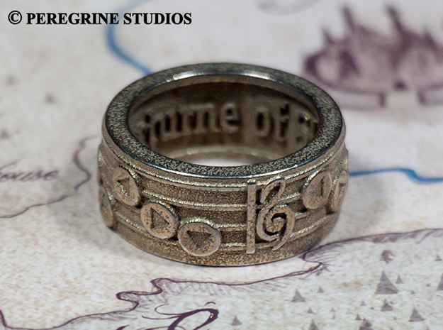Ring - Nocturne of Shadow (Size 13) 3d printed Stainless Steel