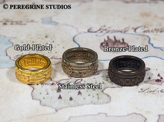 Ring - Nocturne of Shadow (Size 13) 3d printed