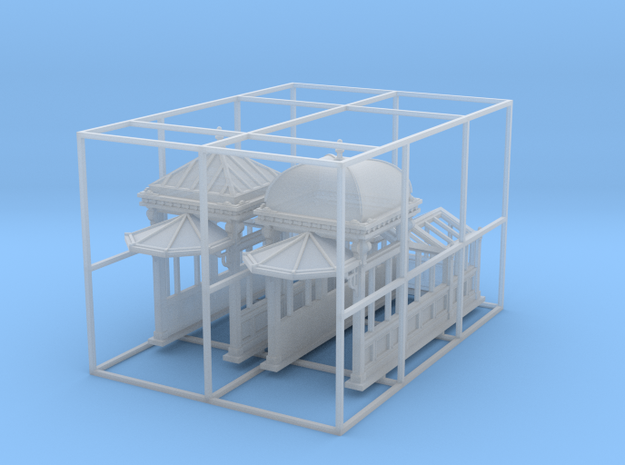 N Scale (1:160) Subway Kiosks (Set of 2) 3d printed