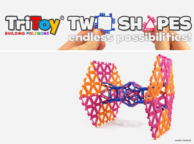 TriToy Building Polygons (SET OF 12 TRIANGLES)-