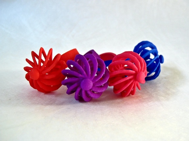 Turbine Fidget Ring 3d printed Available in all Dyed, Strong and Polished colors!