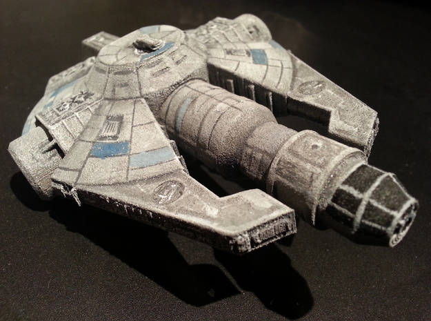 YT-2000 Otana (Jan's version) 1/270 3d printed White Strong and Flexible