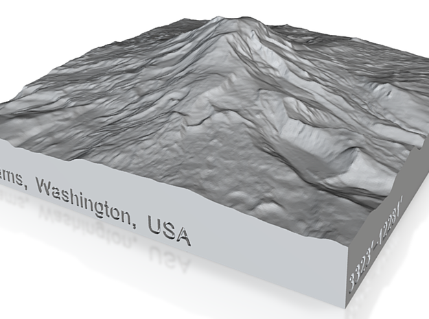 3'' Mt. Adams, Washington, USA, Sandstone 3d printed