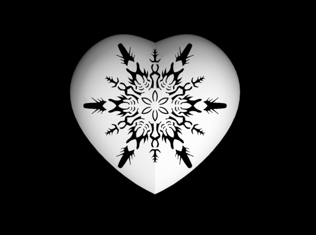Small Snowflake Heart by Helen & Colin David 3d printed Snowflake design