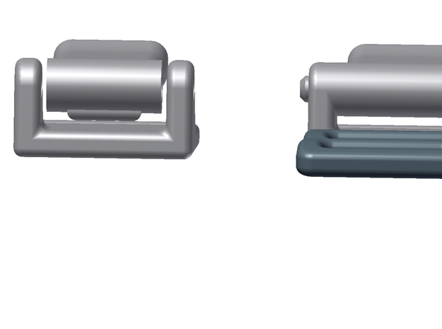 1:6 Scale Seat Belt Parts - Snap Type Connector 3d printed