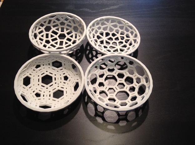 "Covalent Bonds Coffee Table Bowl (6.25"" diameter) 3d printed This bowl is part of a series"