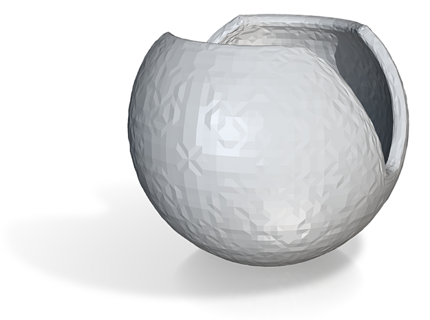 Spherical Planter 1 (floral Patterned) Pot Part 3d printed
