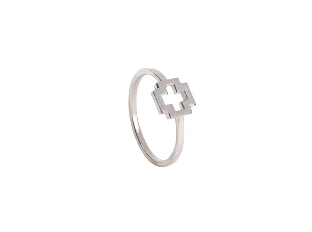 Dainty Plus Ring 3d printed