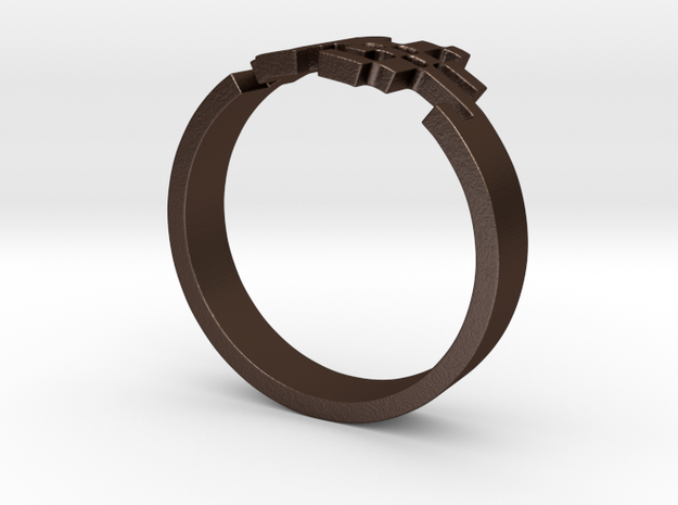 Space Monster Ring - Inspired By Space Invaders 3d printed