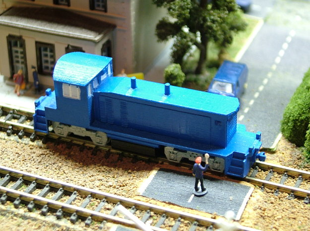 EMD SW1500 Locomotive - Zscale 3d printed Painting and photo thanks to Walter Smith