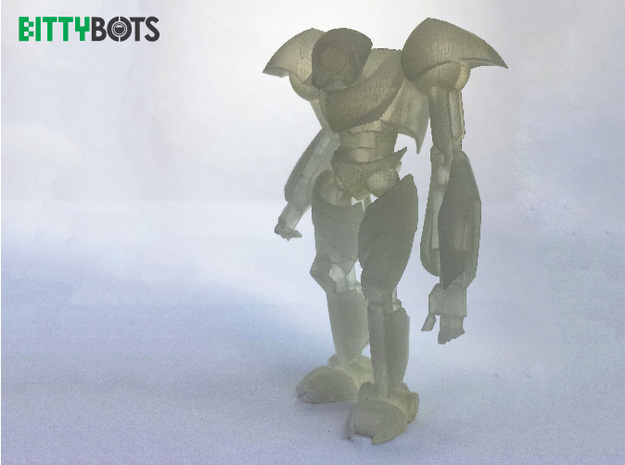 Humanoid BittyBot MK1 3d printed Frosted Ultra Detail