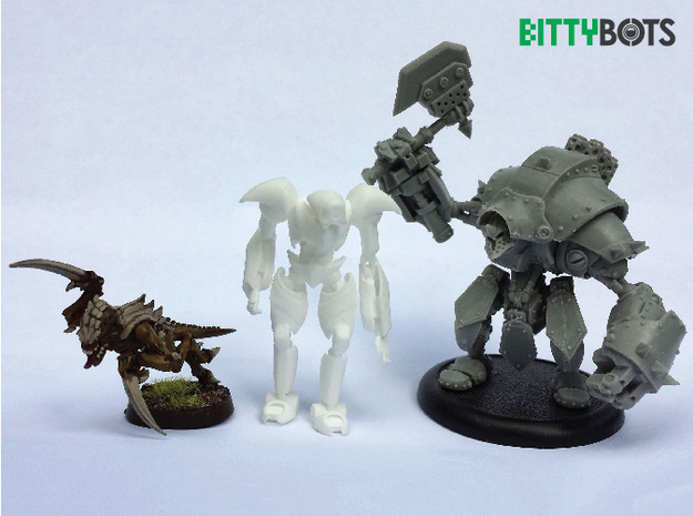 Humanoid BittyBot MK1 3d printed Scale Reference (Polished WSF)