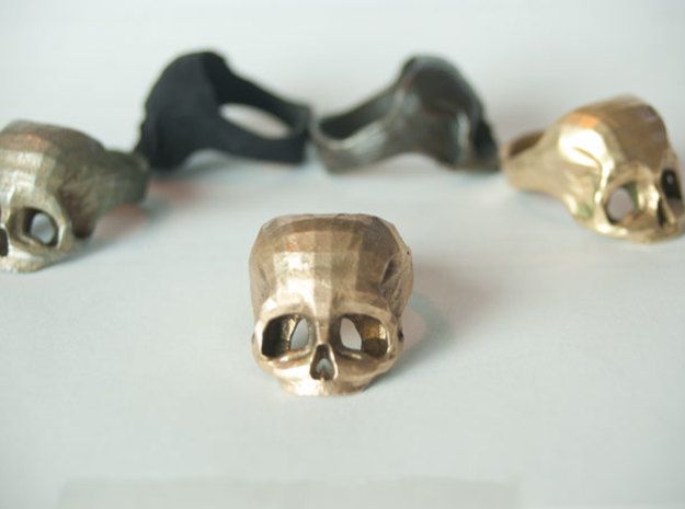 Bronze Skull Ring by Bits to Atoms 3d printed Bronze Skull Ring by Bits to Atoms