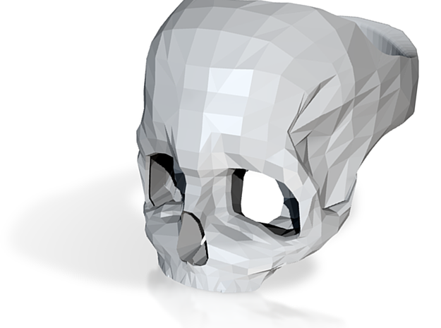 Stainless Steel Skull Ring by Bits to Atoms 3d printed
