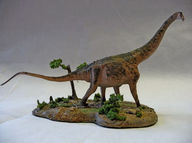 Alamosaurus Krentz 3d printed White Strong and Flexible Painted by Martin Garratt