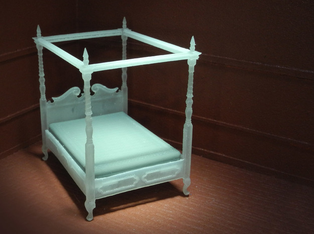 1:48 Four Poster Canopy Bed