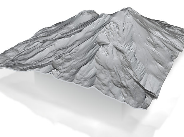 8'' Mt. Shasta Terrain Model, California, USA 3d printed
