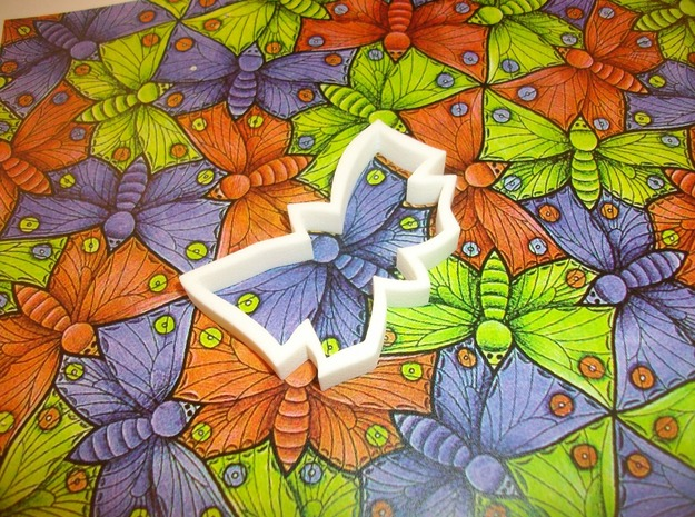 Butterfly Tile 3d printed