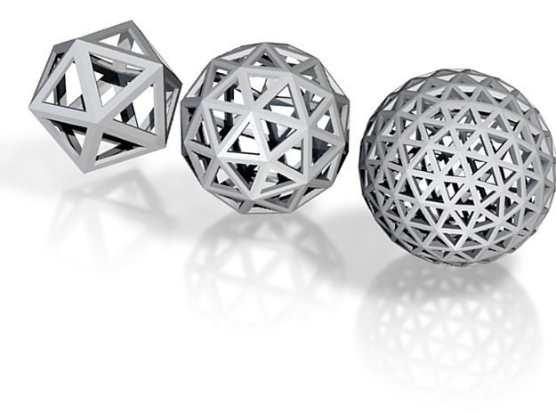 Geodesic spheres 3d printed