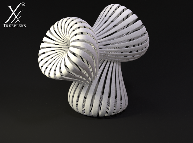 Triple Klein Bottle 3d printed Cycle render.