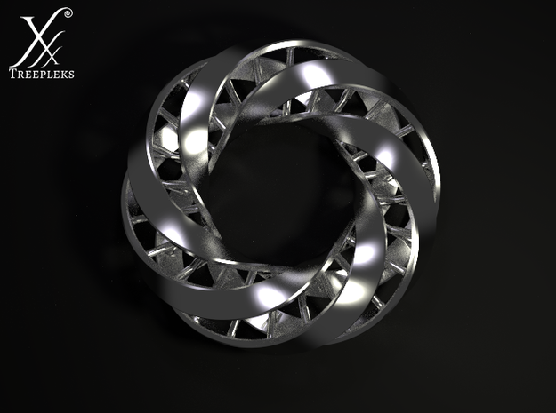 Double DNA trefoil, Cycle of life 3d printed Cycle render.