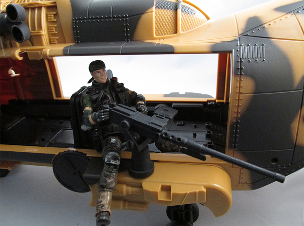 Action figure compatible 1/18 Scale 50 Cal machine 3d printed