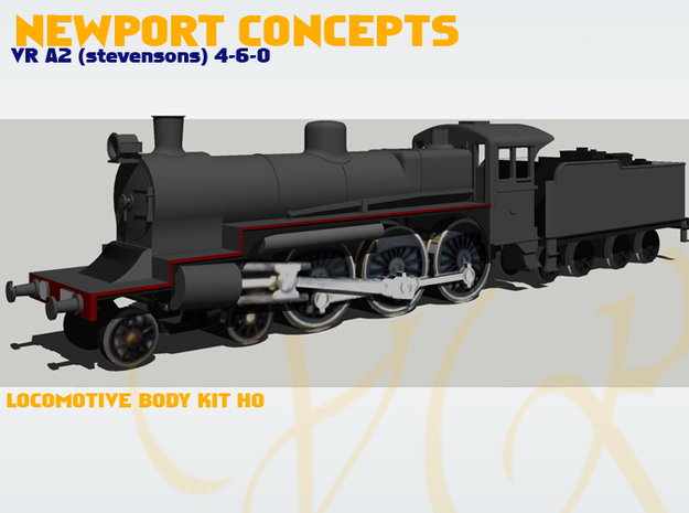 VR A2 locomotive body kit 3d printed