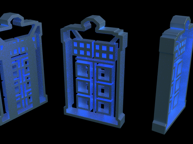 TARDIS Cookie Cutter 3d printed A few rendered views... sadly it is not bigger on the inside. Sorry.