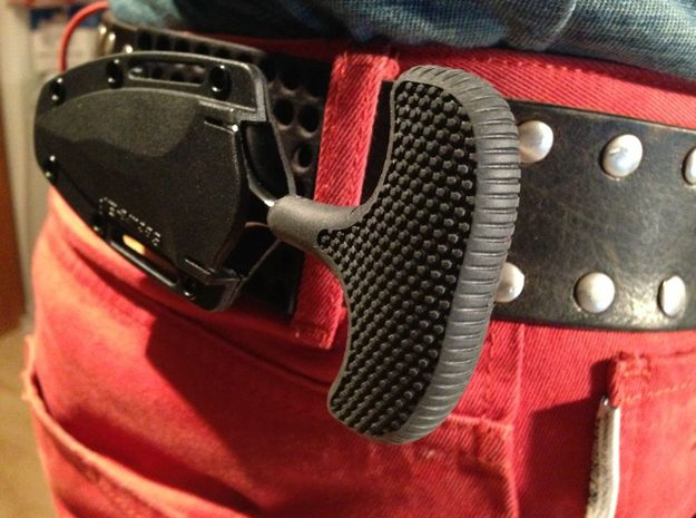 BeltKeeper - Belt clip for Secure-Ex knife sheats 3d printed BeltKeeper companion to Cold Steel SafeKeeper and similar knives with Secure-Ex sheath