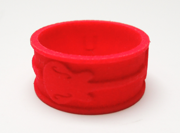 Seasick Semi - UK U Ring Size 10.25 3d printed Prototype in Coral Red