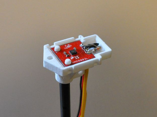 Cover for magnetometer HMC5883L (for 8mm tube) 3d printed