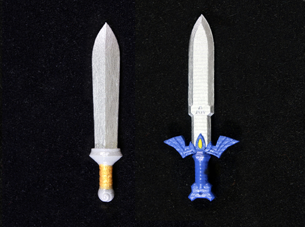 Sword Pack III 3d printed Painted Frosted Ultra Detail