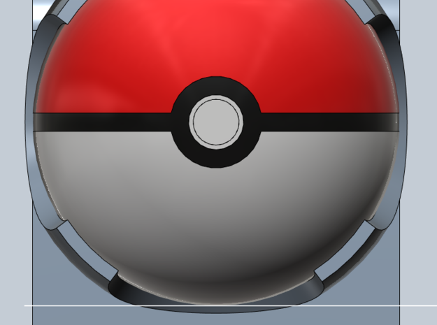 Pokeball 3DS cart holder- BETA 3d printed