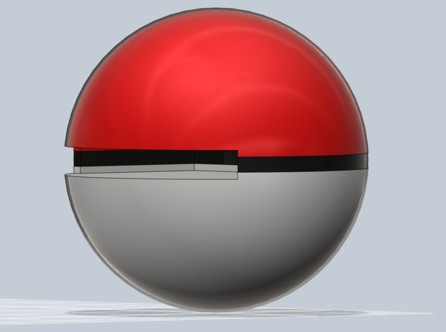 Pokeball 3DS cart holder- BETA 3d printed Slot view.