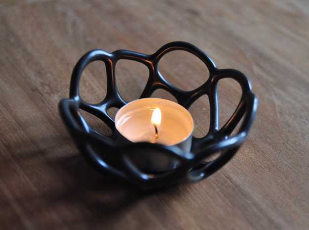 Tea Light Holder Cell Shaped 3d printed Tea ligth alternate view