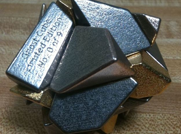 Heavy Metal! Ghost Cube (For Sale) 3d printed Metal Ghost Cube Scrambled