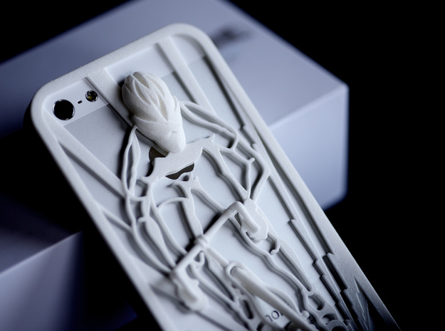 Muscular Cyclist iPhone 5/5s Case 3d printed detail of Muscular Cyclist iPhone5/5s Case in white