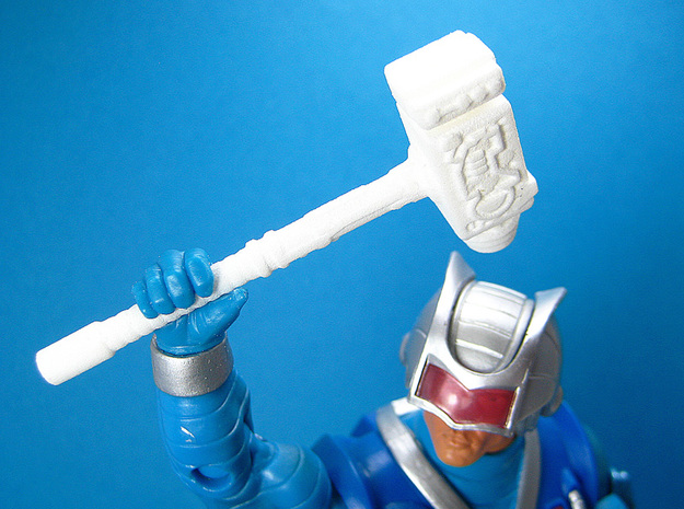 Cosmic Weapons Pack for MOTU and Similar Figures 3d printed Cosmic Hammer