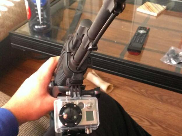A&R GoPro Picatinny Rail Mount 3d printed On AK