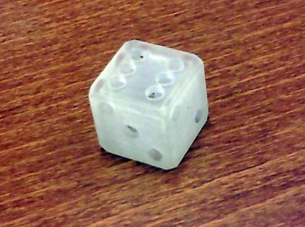 Hollow Dice 3d printed Single