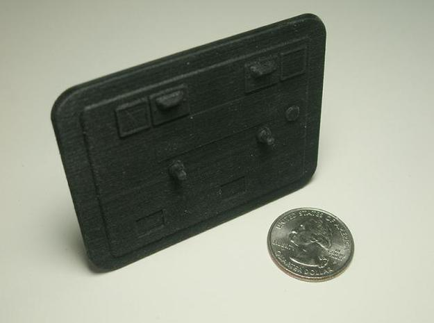 Coin Door B 3d printed Black detail