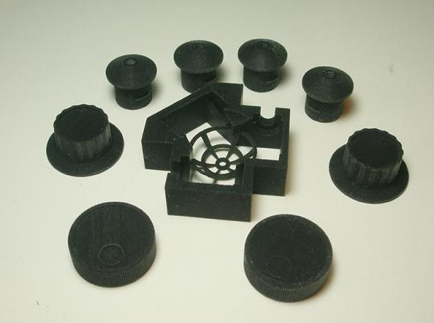 Spinner 1/4 3d printed All parts in this series