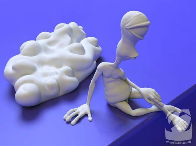 AWN Reclining Nude 3d printed a shot of the 2 pieces seperate