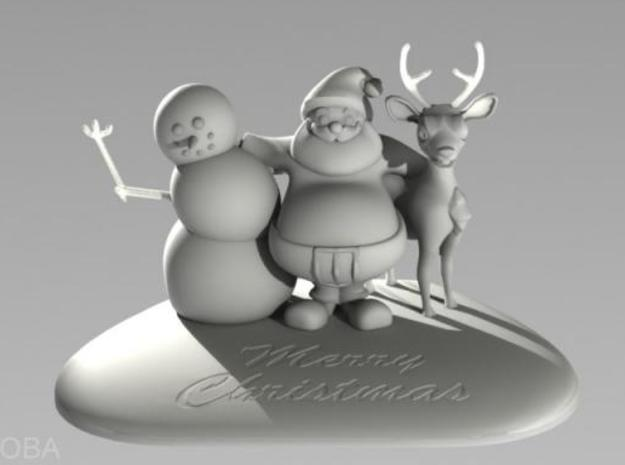 Three christmas-friends 3d printed Description