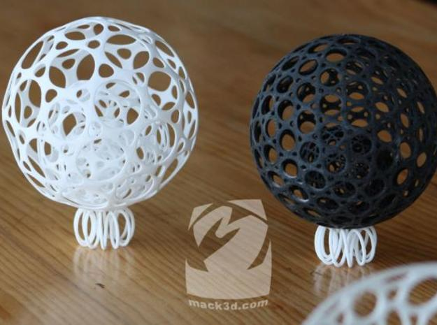 Mini Ball Stand ($4) 3d printed Each of the balls pictured here are approx 10cm diameter