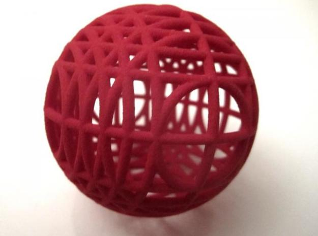 MegaWireSphere 3d printed In Winter Red Strong and Flexible