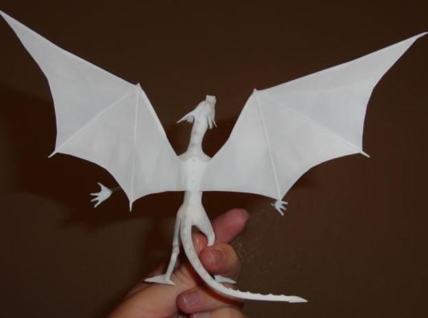Pen Dragon -v2h 3d printed Back shot, in WSF.