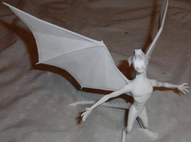 Pen Dragon -v2h 3d printed A front, overhead shot, in WSF.