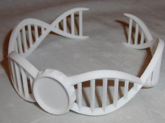 DNA Bracelet -v2 Large (10cm) 3d printed Printed in WSF, this is a frontal shot.