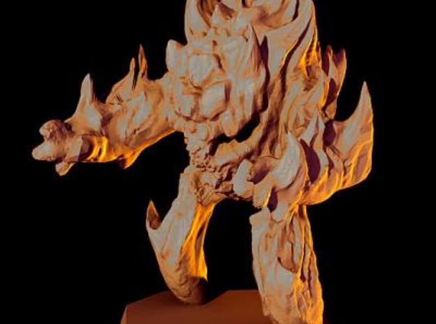 Fire elemental miniature 3d printed Description